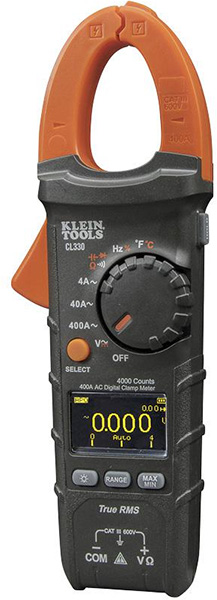 Klein 400A AC auto-ranging digital clamp meter (CL330)