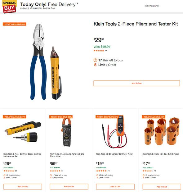 Klein Tool Set Deals August 2018