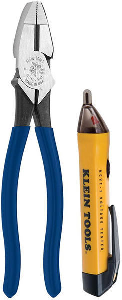 Klein Voltage tester and 9 inch side-cutting pliers NCVT-1 D213-9NE