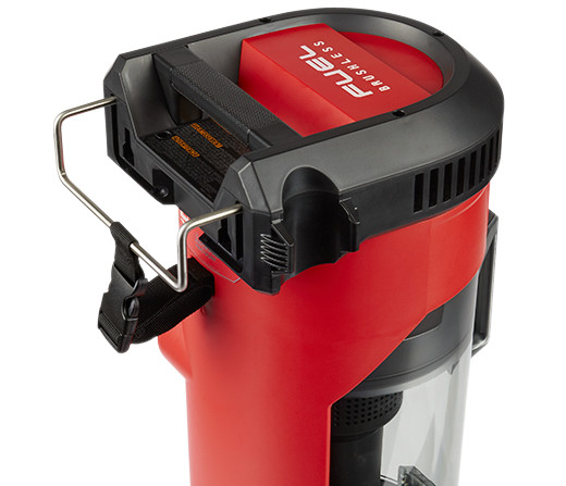 Milwaukee M18 Fuel BackPack Vacuum closer look at the hook
