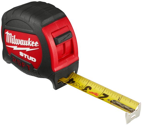 Milwaukee Stud 25ft Tape Measure blade extended