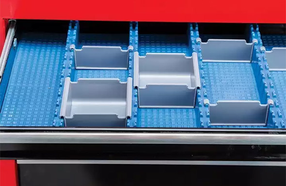 Rockler Lock-Align Drawer Organizer System in a Drawer