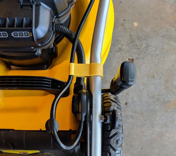 Dewalt 2x20V mower cable pinching fix