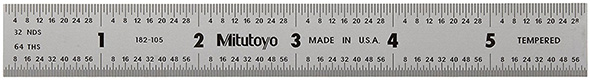 Mitutoyo USA-Made Stainless Steel Ruler