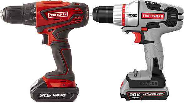 Sears Craftsman vs Bolt-On Black and Decker Battery Style