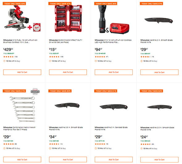 Milwaukee Power Tools and Accessories Deals of the day 10-8-2018 Page 2