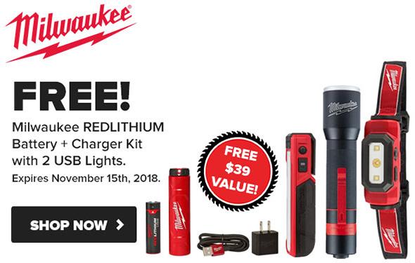 Tool Nut Milwaukee RedLithium LED Lighting Promo