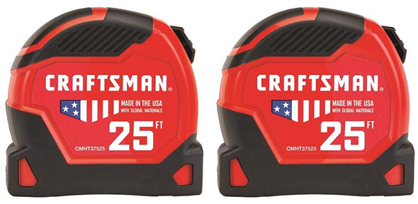 Craftsman CMHT82597Z Tape Measure 2-Pack Black Friday 2018 Deal