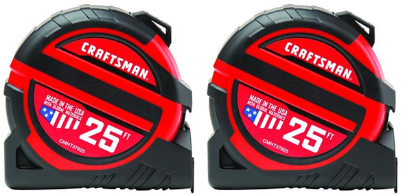 Craftsman CMHT82600Z Tape Measure 2-Pack Black Friday 2018 Deal