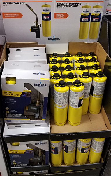 Home Depot Pro Black Friday 2018 Tool Deals Bernzomatic Torch and Fuel Cylinders