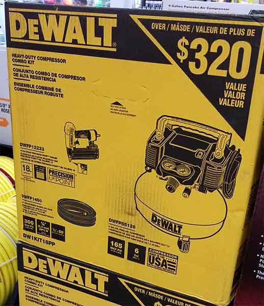 Home Depot Pro Black Friday 2018 Tool Deals Dewalt Air Compressor with Precision Point Nailer