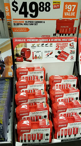 Home Depot Pro Black Friday 2018 Tool Deals Diablo Hole Saw Set