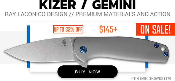 Kizer Gemini Knife Sale
