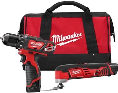 Milwaukee 2495-22 M12 Cordless Drill and Oscillating Multi-Tool Kit