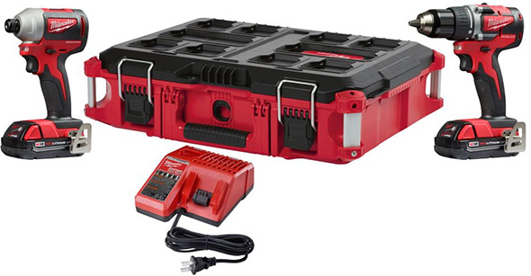Milwaukee M18 Compact Brushless Drill and Impact Driver with Packout Tool Box Promo 2018