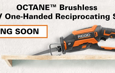 Ridgid 18V Octane Brushless One-Handed Reciprocating Saw