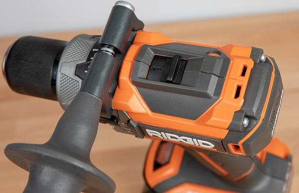Ridgid R86116 Black Friday 2018 Cordless Drill Speed Selector Switch and Side Handle Attachment