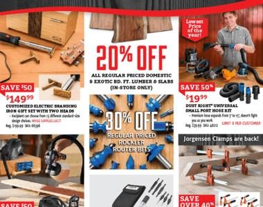 Rockler Black Friday 2018 Tool Deals Page 1