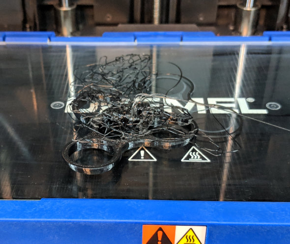 Failed fidgit spinner in nylon filament