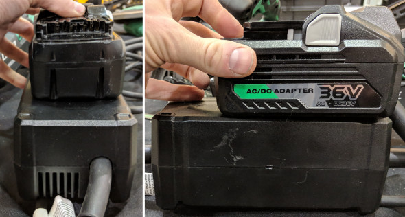 MetaboHPT 36V AC Adpater Size