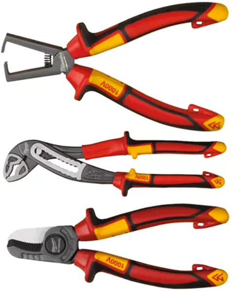 Milwaukee VDE Insulated Wire Strippers and Pliers and Cable Cutters