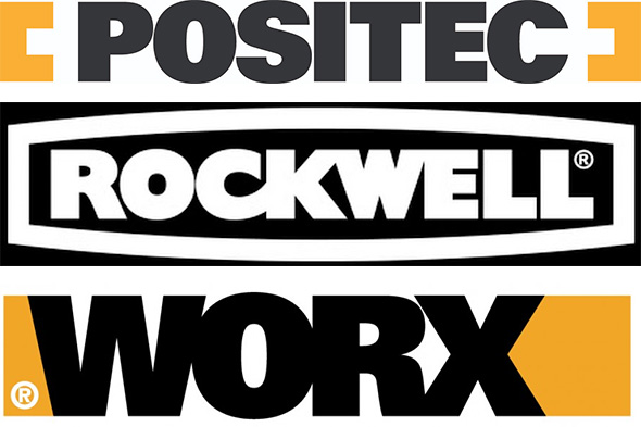 Positec Tool Brands Logos Rockwell and Worx