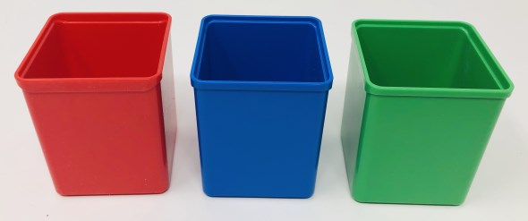 Auer Packaging Assortment Boxes - Insertable Bins Color Options
