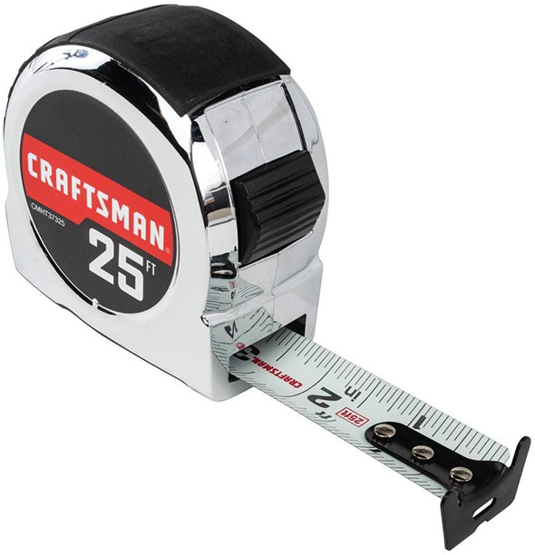 Craftsman Tape Measure Chrome-Like Finish