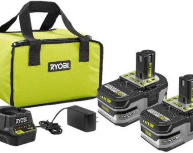 Ryobi Tool ONE+ 3Ah Batteries and Compact Charger