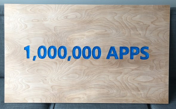 CNC Basics - My 1,000,000 Apps Plaque