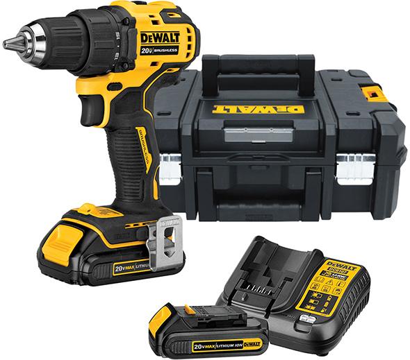 Dewalt Atomic Cordless Drill Kit and TStak Tool Box Bundle