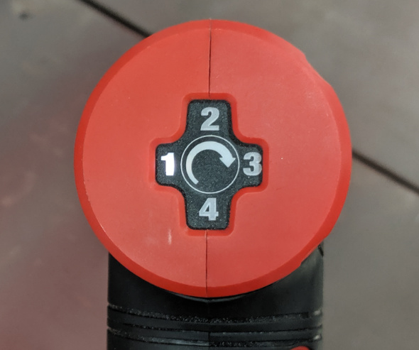 Milwaukee M12 Fuel Right Angle Die Grinder Speed Selector