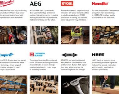 TTI Tool Brands Including Milwaukee and Ryobi