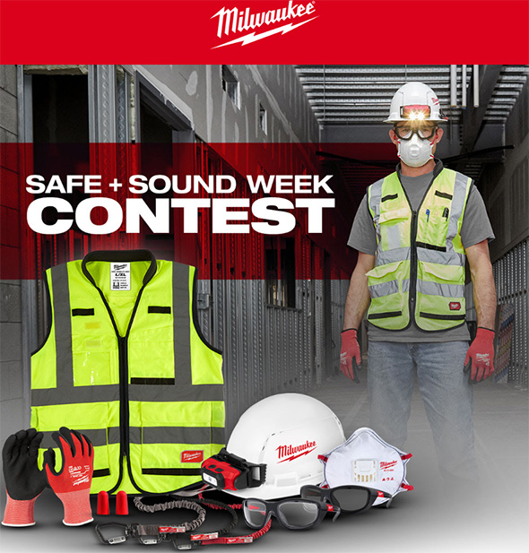 Milwaukee Tool Safe Sound PPE Gear Contest