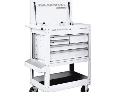 Harbor Freight White 5-Drawer US General Tool Cart