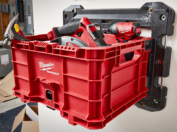 Milwaukee Packout Crate on Wall Mount