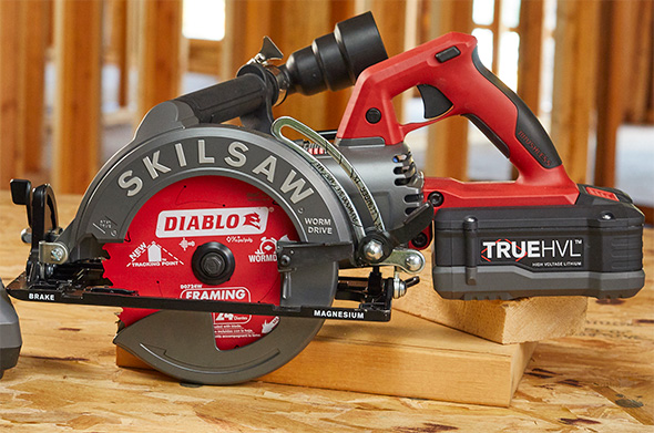 SkilSaw Cordless Worm Drive Circular Saw with Dust Extraction Accessory