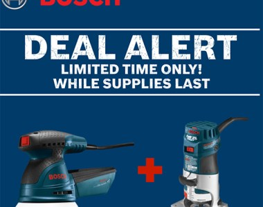 Bosch Sander Router Deal of the Day 102519