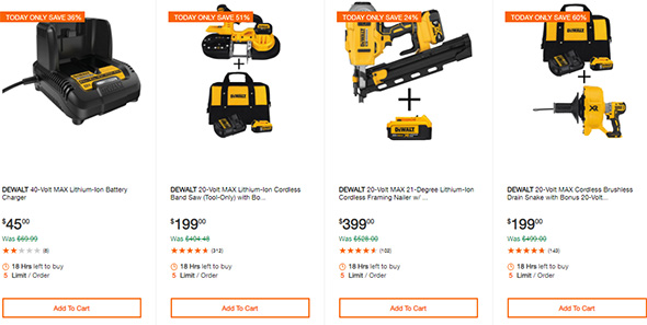 Dewalt Cordless Power Tool Deals of the Day Home Depot 10-13-19 Page 5