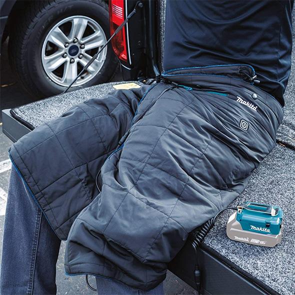 Makita Cordless Heated Jacket DCB200A Worn Over Pants