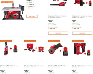 Milwaukee Cordless Power Tool Deals of the Day 10-7-19 Page 0