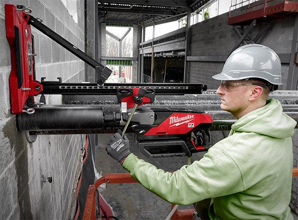 Milwaukee MX Fuel Cordless Core Drill Used Horizontally