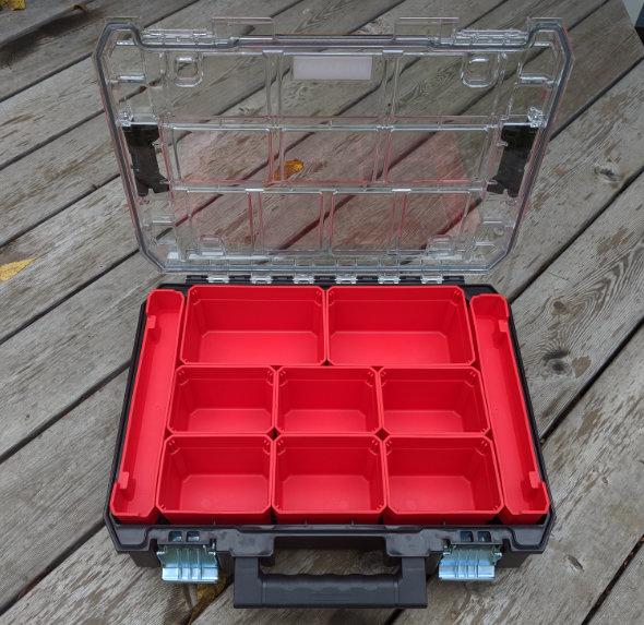 New Craftsman Versastak clear-lidded small parts organizer