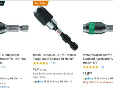 Wera Bit Holders Amazon Choice October 2019