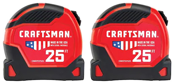 Craftsman Tape Measure 2-Pack CMHT43246 Holiday 2019
