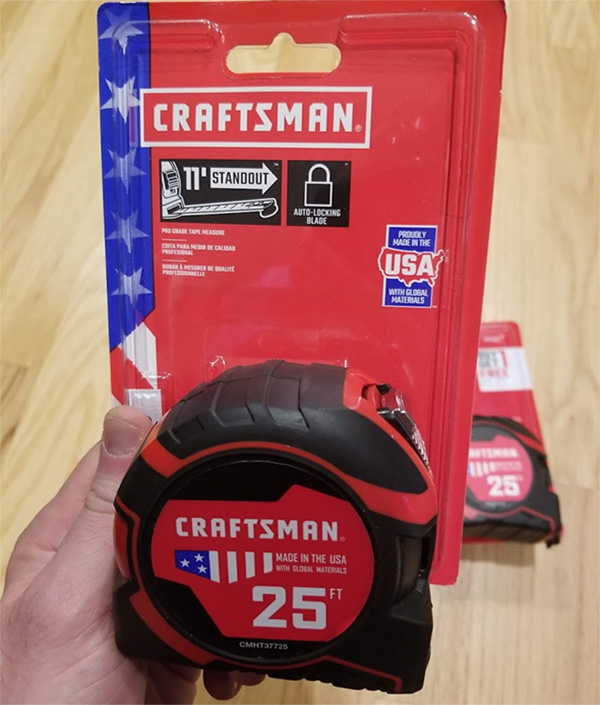 Craftsman Tape Measure 2018 Edition Single Pack