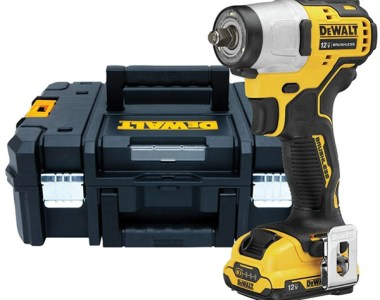 Dewalt 12V Max Xtreme Subcompact Cordless Impact Wrench and Tstak Tool Box Kit