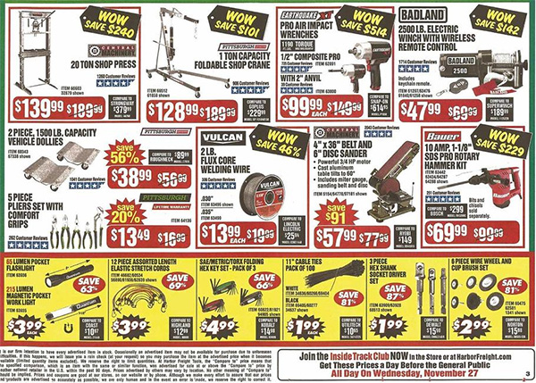 Harbor Freight Black Friday 2019 Tool Deals Page 6