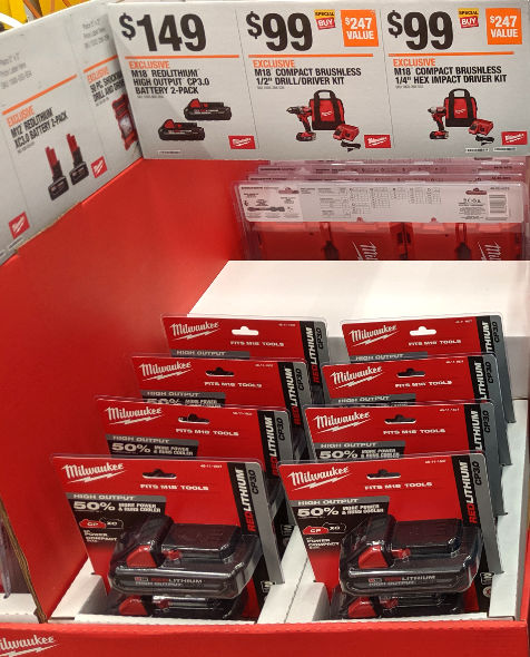 Home Depot 2019 Pre Black Friday Special Buys Milwaukee CP3 Batteries