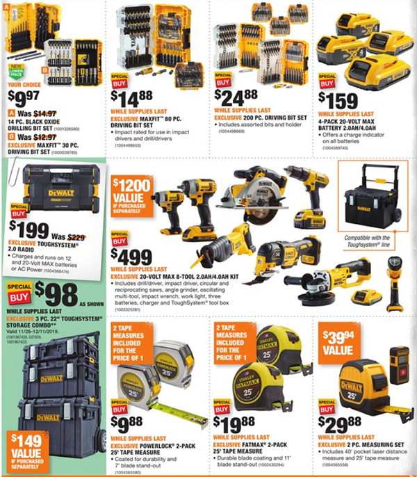 Home Depot Black Friday 2019 Official Tool Deals Page 12
